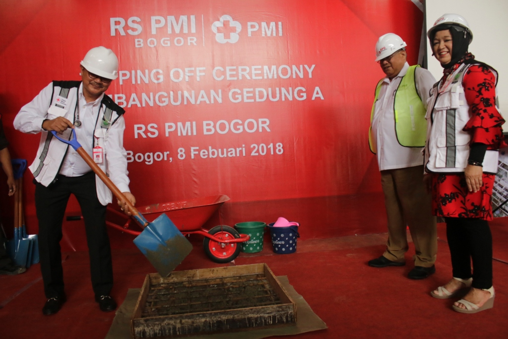 Topping Off Ceremony Pembangunan Gedung A RS PMI Bogor